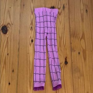 Pink spider girl tights